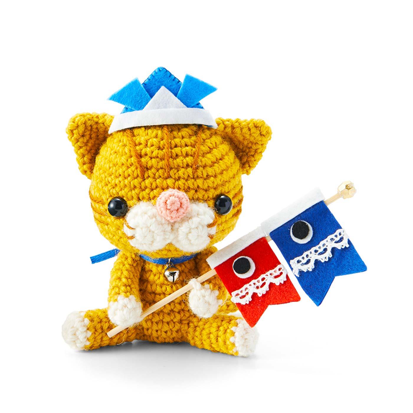 〈3月分お届け〉ネコくんとこいのぼり(最初に、このデザインからお届けします。)