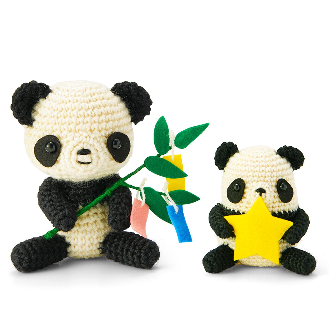 〈5月分お届け〉パンダ&子パンダの七夕