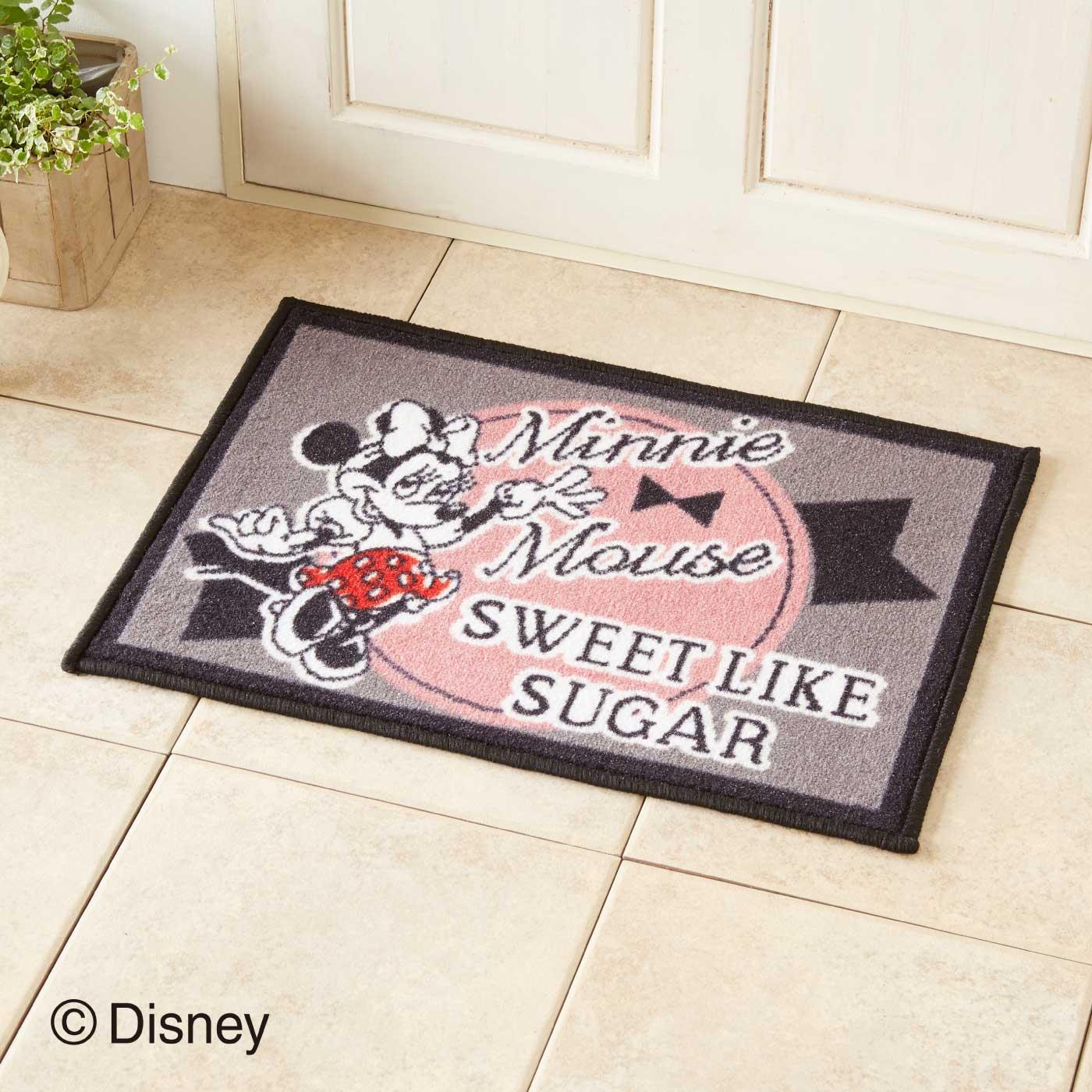 キュートにお出迎え♪ ミニーマウス ドアマットS