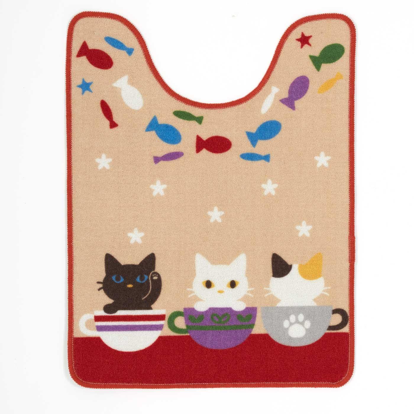 かわいい子猫フレンズ ロングサイズトイレマット