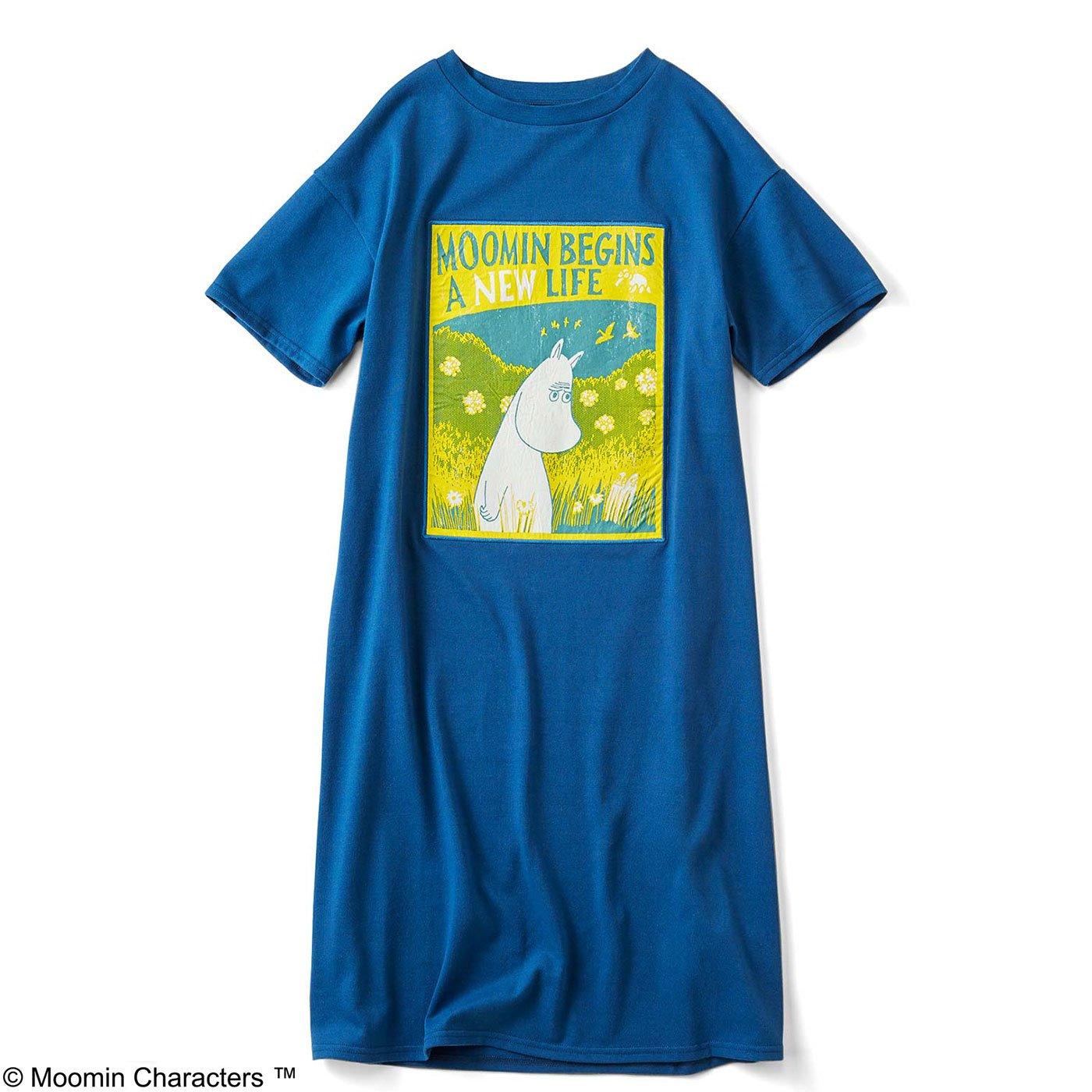 ポスター風プリントのTシャツワンピース〈ムーミン〉