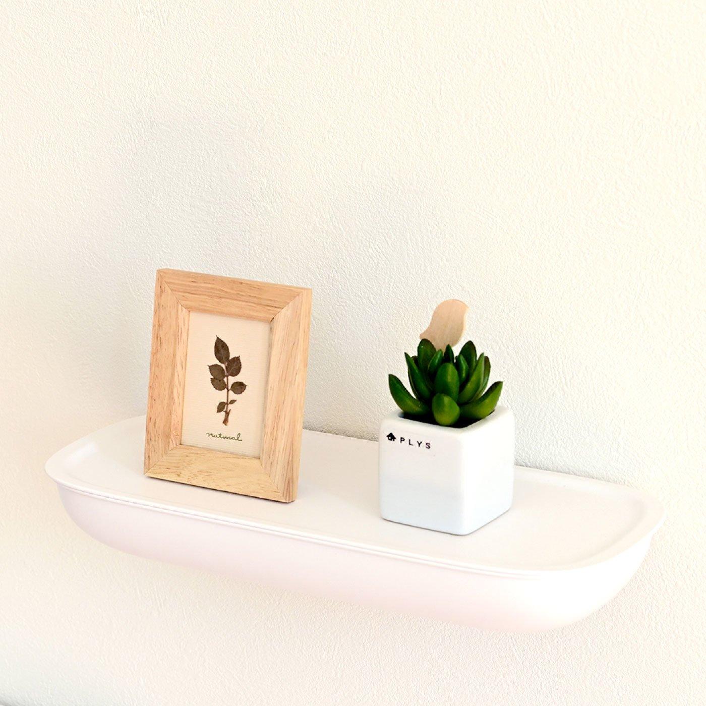 トイレに収納を作る 浮かせる 収納付き飾り棚