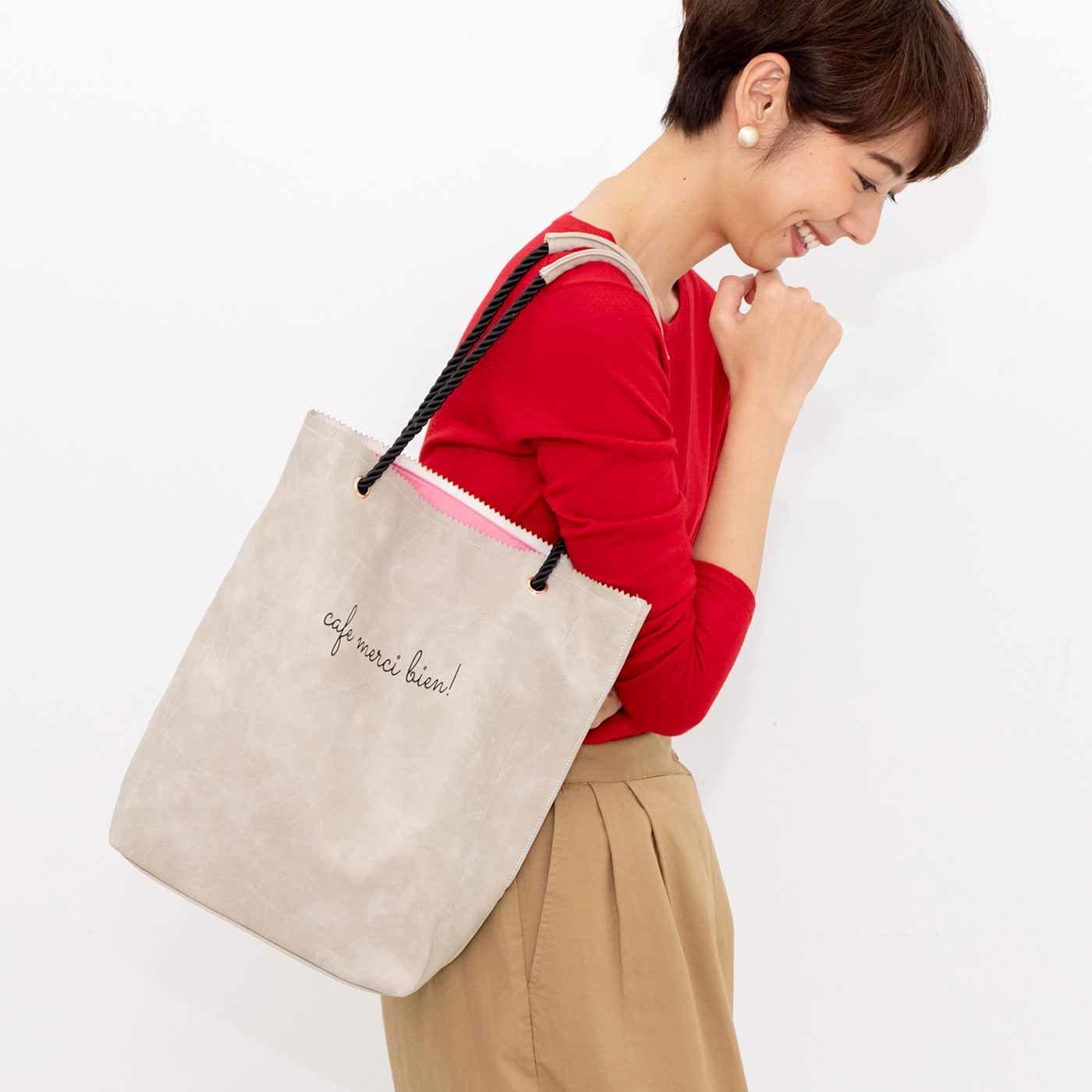 いつものバッグにプラスが便利 紙袋みたいな薄まちすっきりトートバッグの会