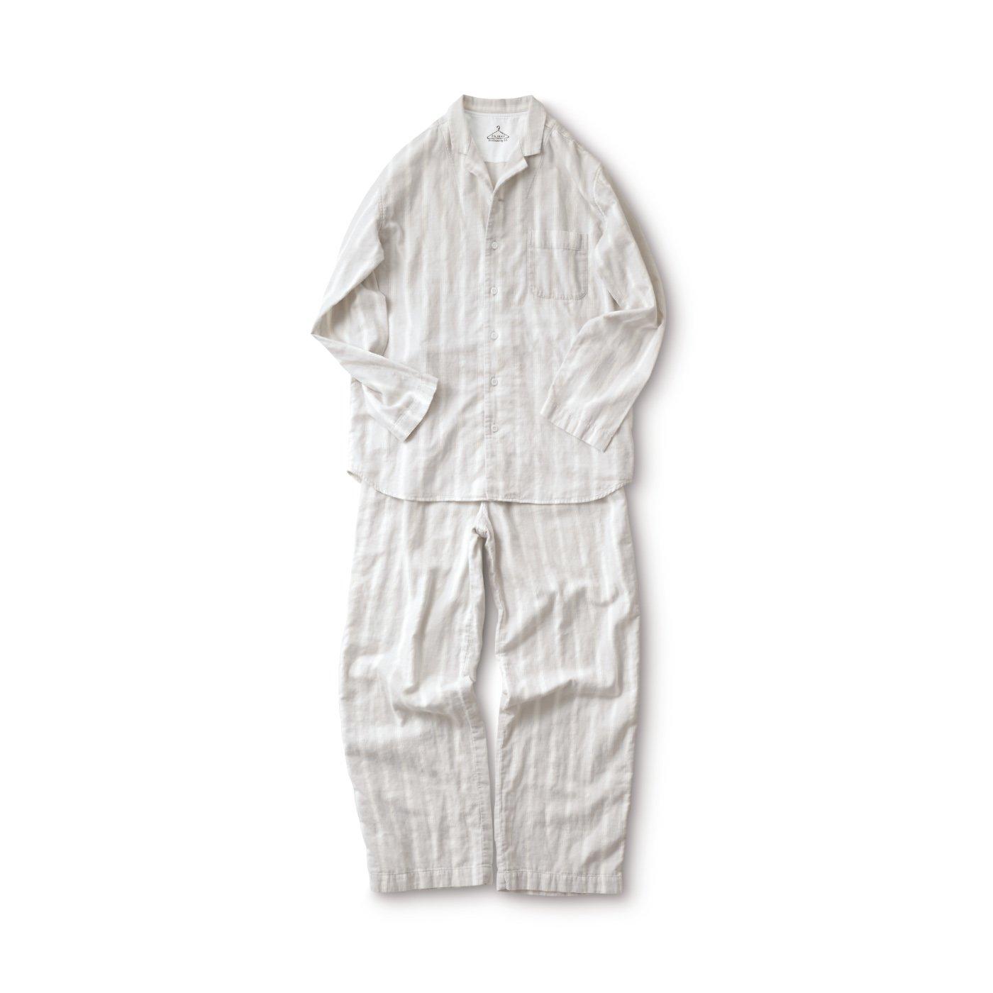 サニークラウズ ストライプのパジャマ〈メンズ〉