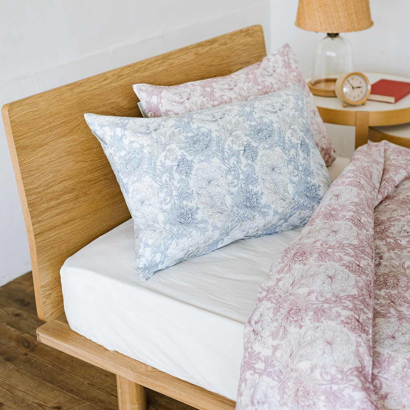ピュアモリス 優美な花に包まれて眠る 綿100%枕カバー ピュアクリサンセマムトワル