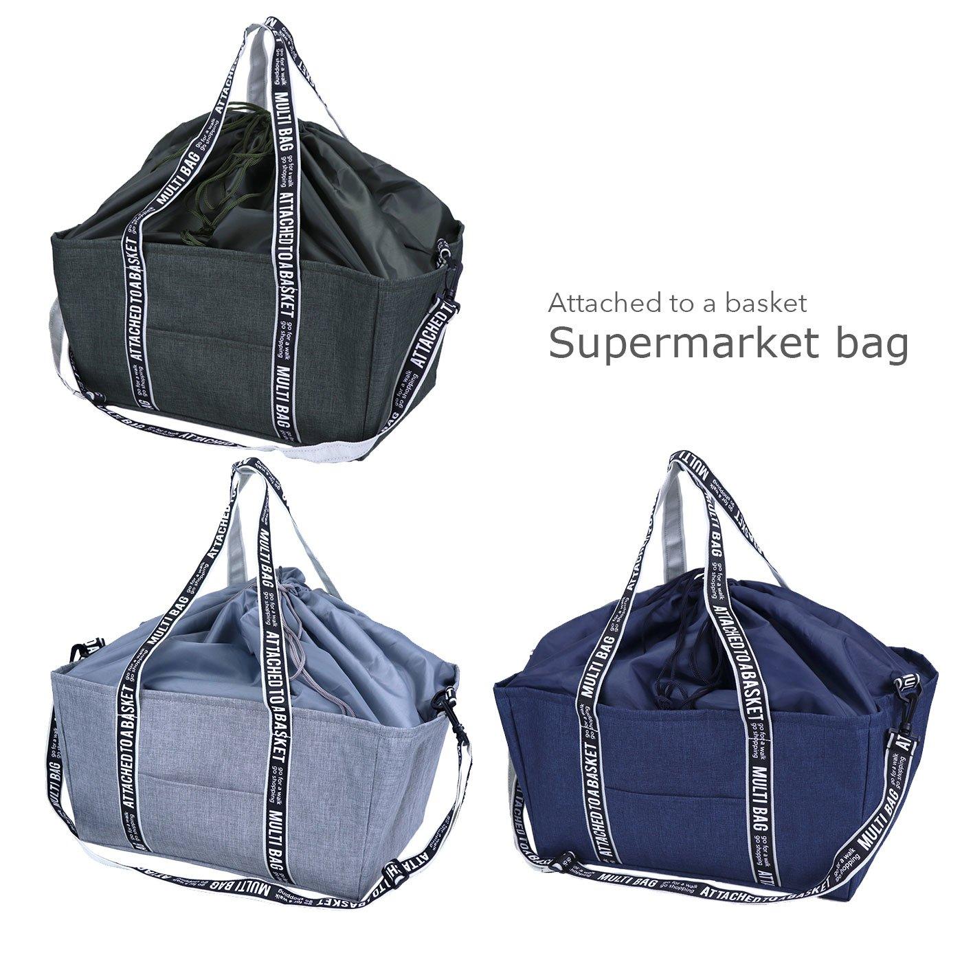 マニッシュなスーパーマーケットバッグ