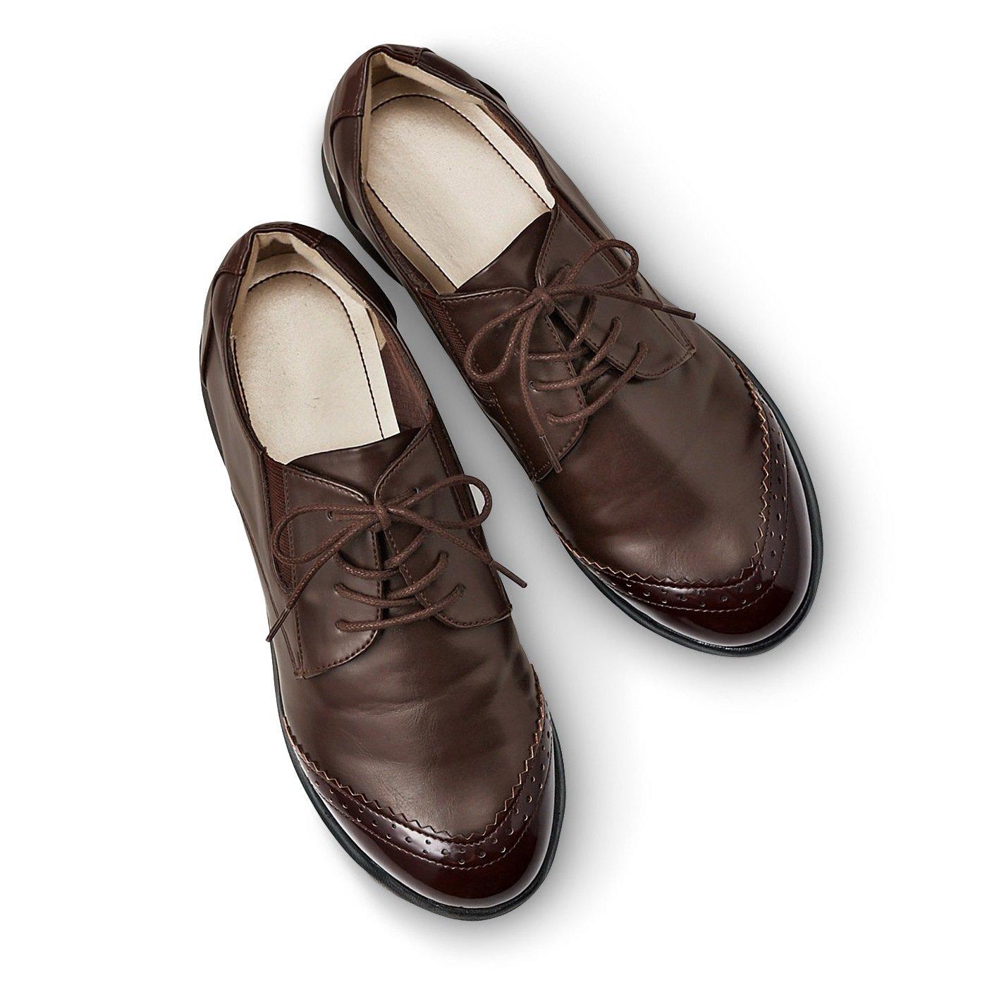 脱ぎ履き素早く驚くほど軽いスニーカー心地のきちんと靴〈ブラウン〉