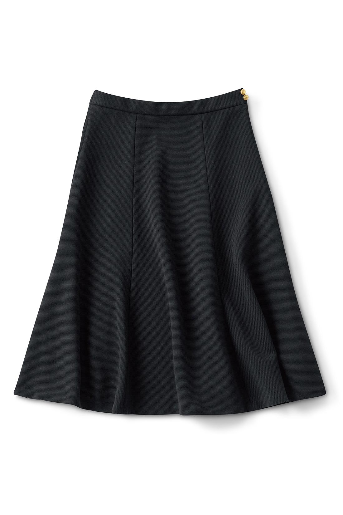スカート フレアー&ひざ丈で上品に