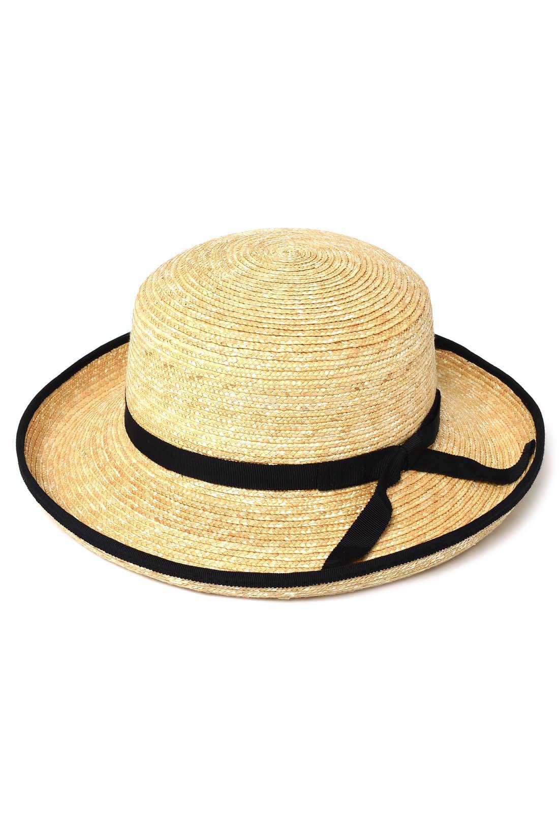 黒の配色がかわい麦わら帽子〈Lily・リリー〉