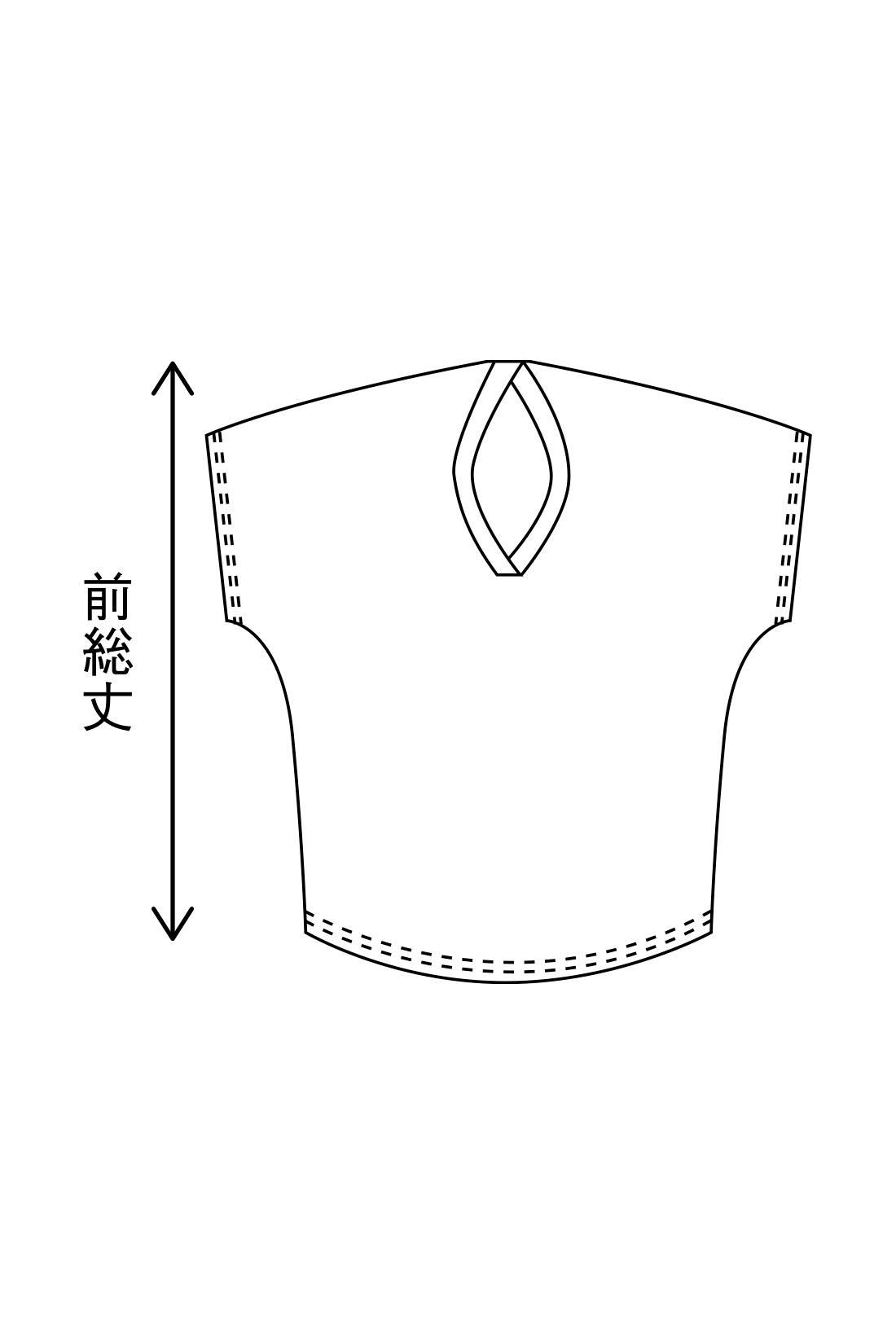 後ろの衿ぐりを少し下に引いて肩線をずらし、立体的なシルエットに。