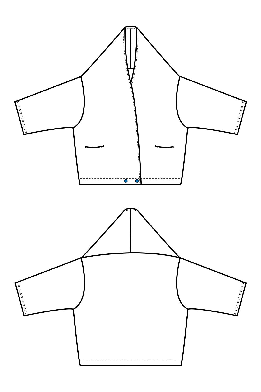 今年らしい太めの袖に、ほっそり見える肩落ちシルエットが魅力。はおるだけで決まるトッパーカーデとしてはもちろん、カシュクールとしても重宝する2-WAY。