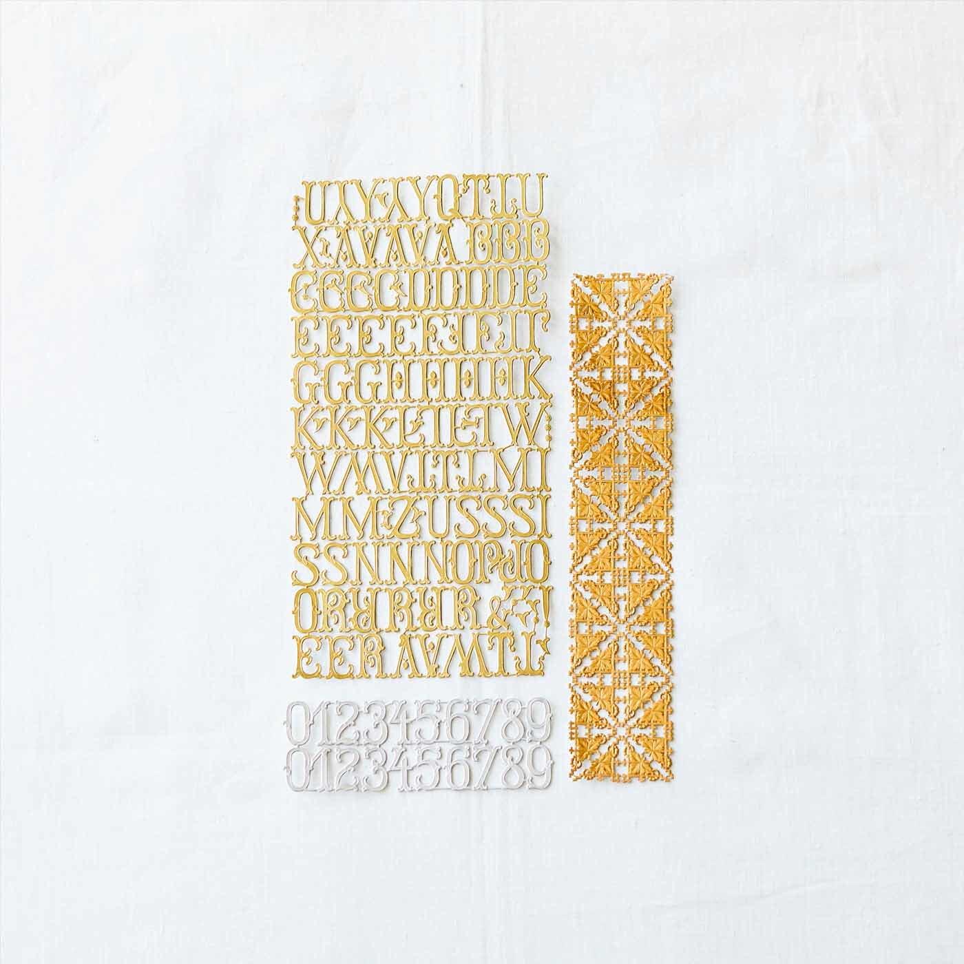ドイツからやってきた美しい紙細工 デコレーションにぴったりのクロモス (アルファベットデコレーションセット)