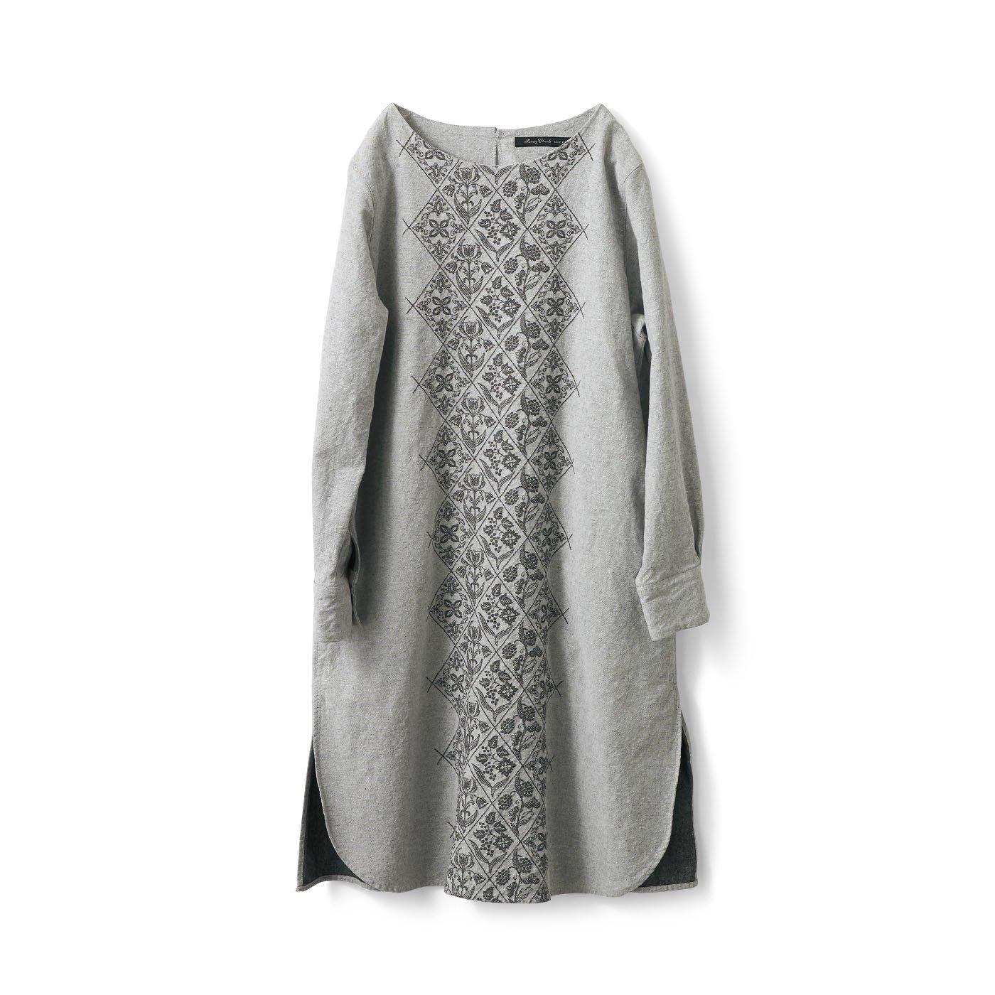 サニークラウズ オトナな織り模様のワンピチュニック〈レディース〉
