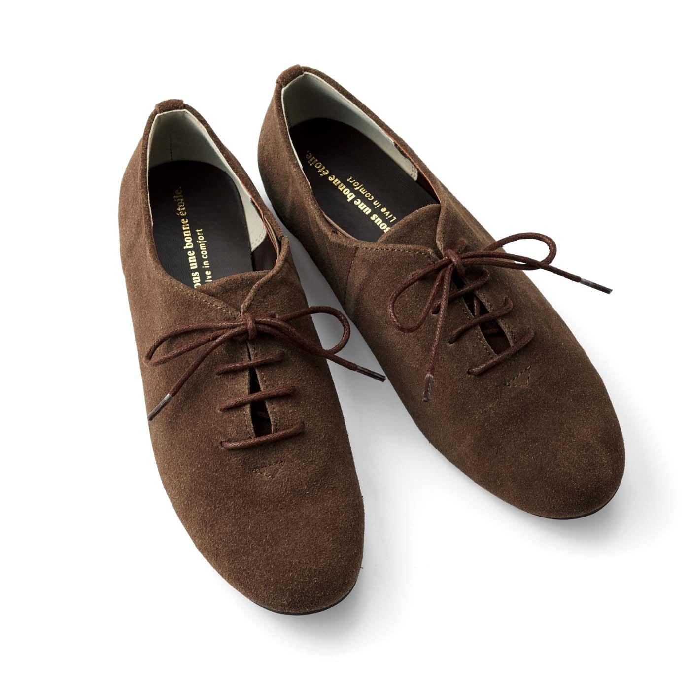 リブ イン コンフォート 履くほどに足になじむ 相棒みたいな本革ドレスシューズ〈ブラウン〉