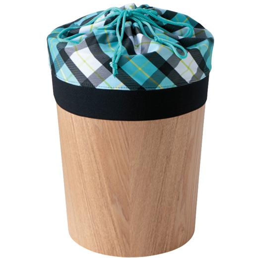キュッとしぼっておしゃれに目隠し ごみ箱きんちゃくカバー