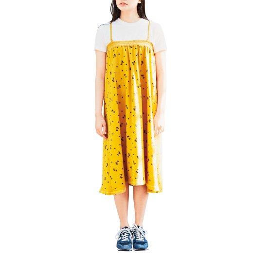 古着屋さんで見つけたような レトロモチーフプリントの2-wayマキシスカート(タイプ2)