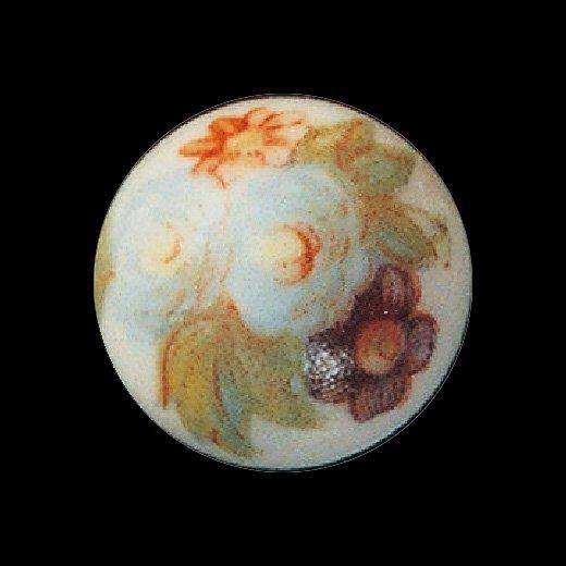チェコの職人さんと作った 陶器のような表情の乳白ガラスピアス・イヤリング(タイプ6)