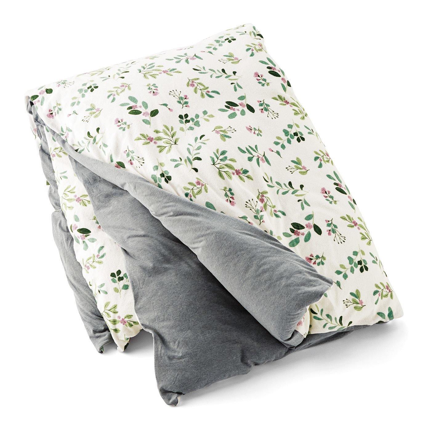 さらっとタッチで快眠仕立て リバーシブルパイル掛け布団カバー〈ダブル〉