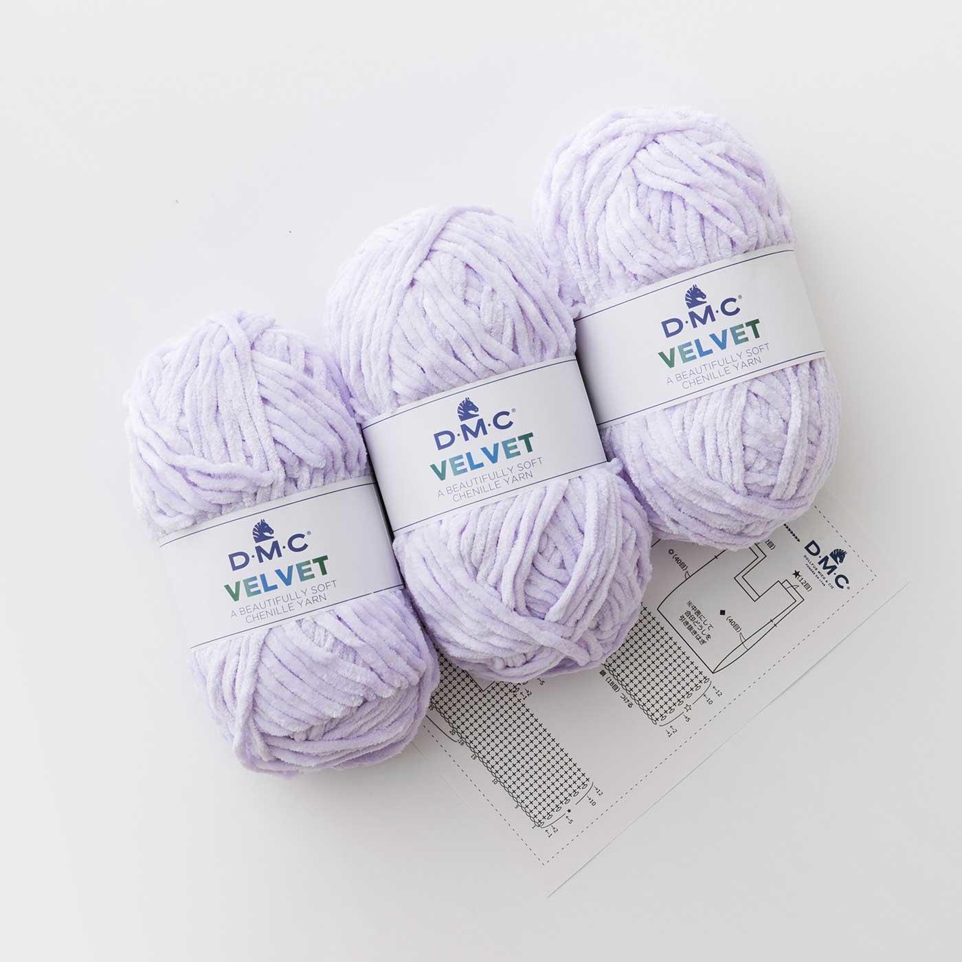 VELVET(ベルベット)で編むかぎ針編みバッグ