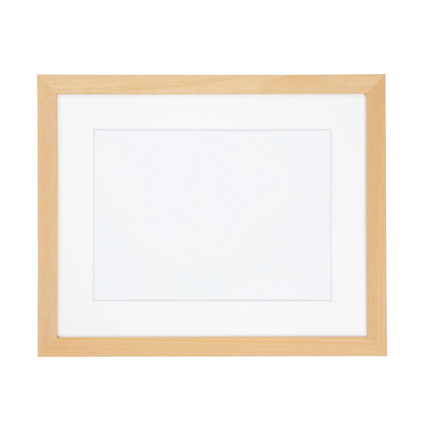 作品がやさしい印象に 木製フレーム(白木)