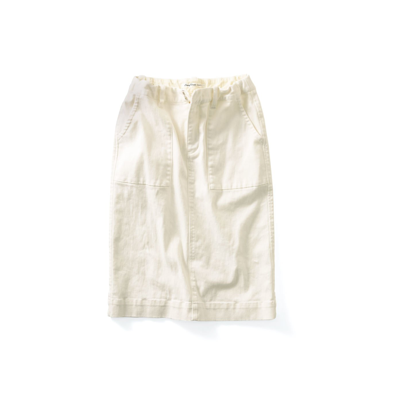 サニークラウズ 伸びるストレッチスカート〈レディース〉白