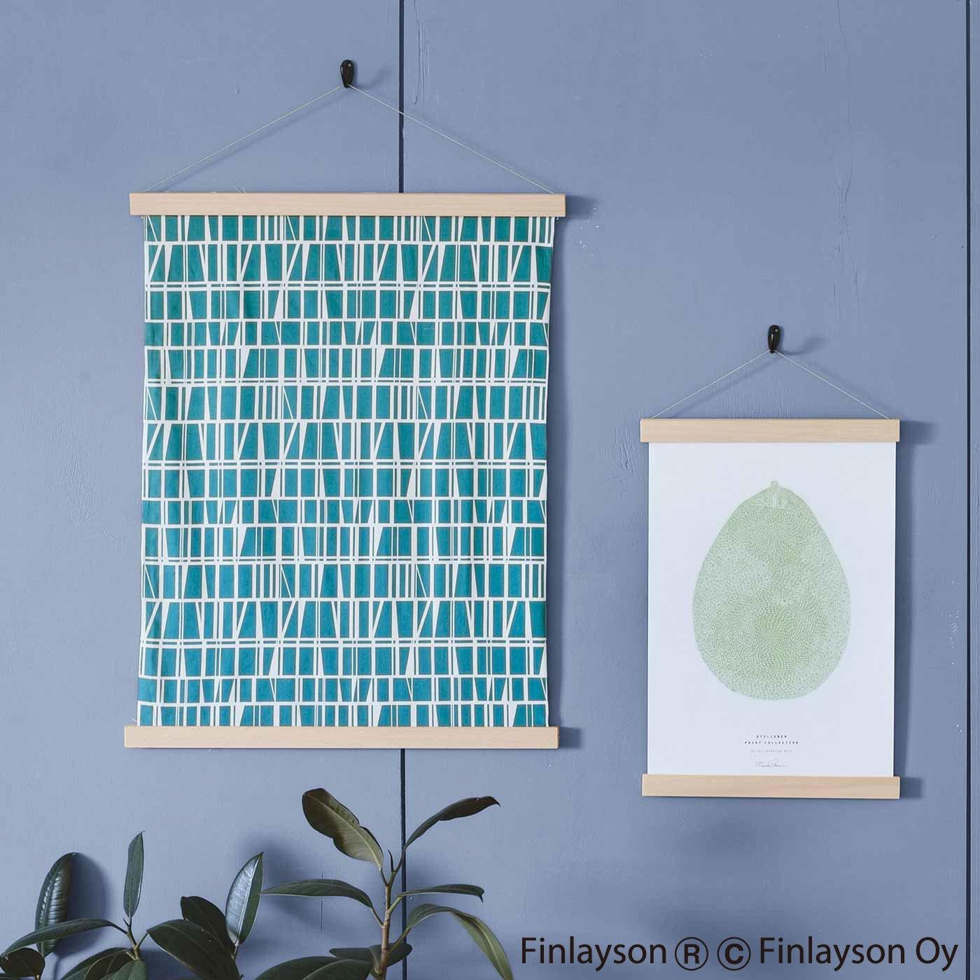 ポスターや絵を素敵に縁(ふち)取る 家具職人が作ったポスターハンガー〈L〉