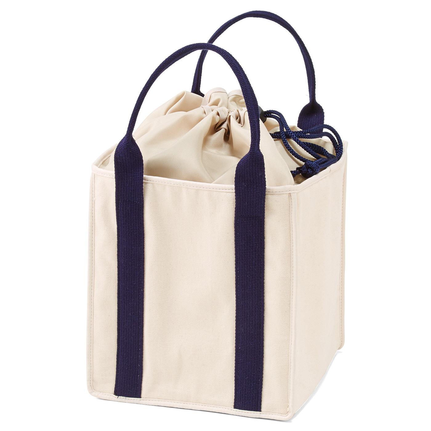 フェリシモ キャンバス素材のランチトートバッグ〈ラージサイズ〉