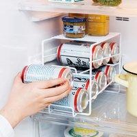 フェリシモ 冷蔵ストックをスマート化! 上にも置ける缶ストッカー