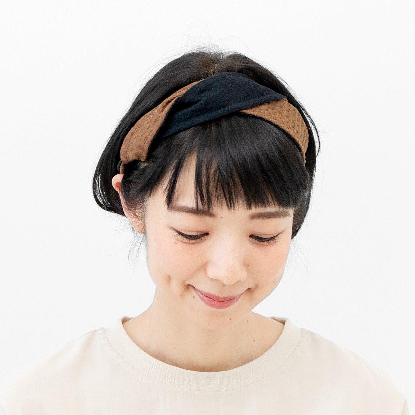 UP.de すっきりなじんでヘアスタイルに自信が持てる ずり落ちないワイヤー入りヘアターバンの会