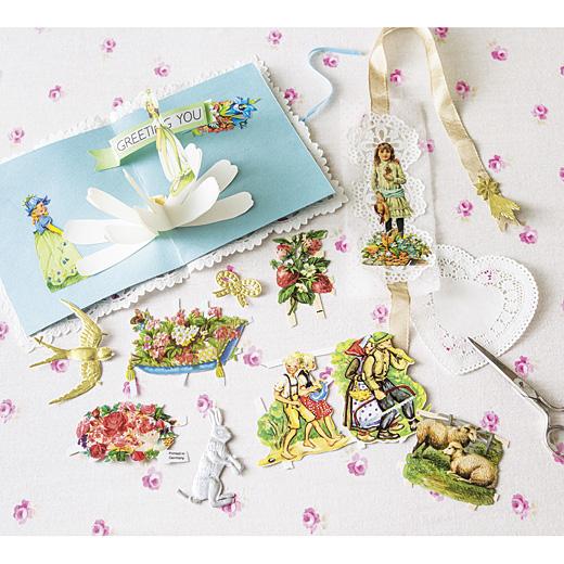 ヨーロッパの女の子たちの宝物 ドイツから届いた繊細なクロモスコラージュセット
