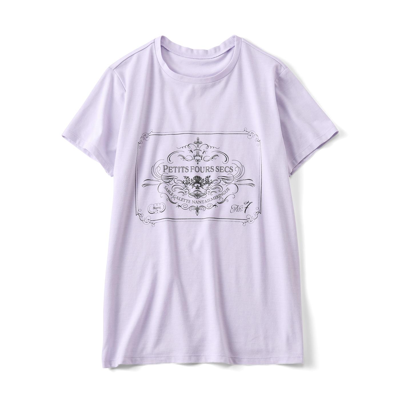 モノクロプリントTシャツ〈お菓子〉