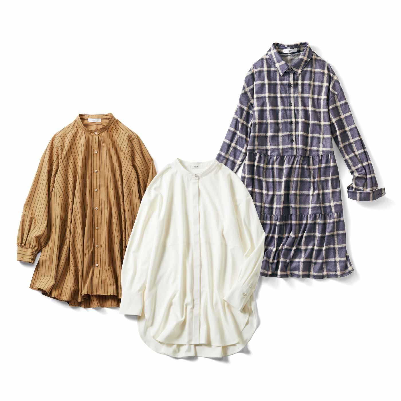 IEDIT[イディット] きちんと感とリラックス感のある 微糖デザインのロングシャツの会(3ヵ月エントリー)
