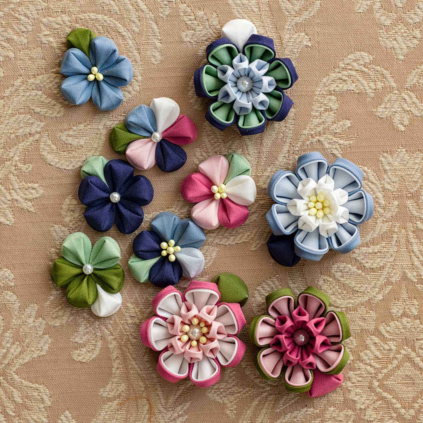 【クチュリエクラブ会員限定】色の重なりが花咲く つまみ細工用カット済みコットン布の会