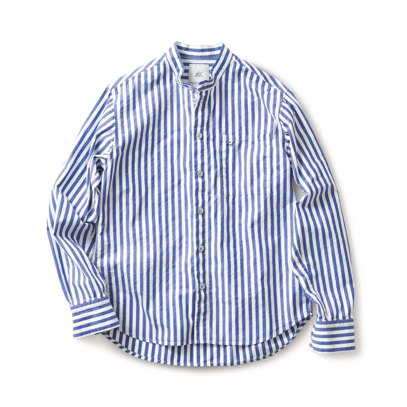 サニークラウズ bonさんのストライプシャツ〈メンズ〉