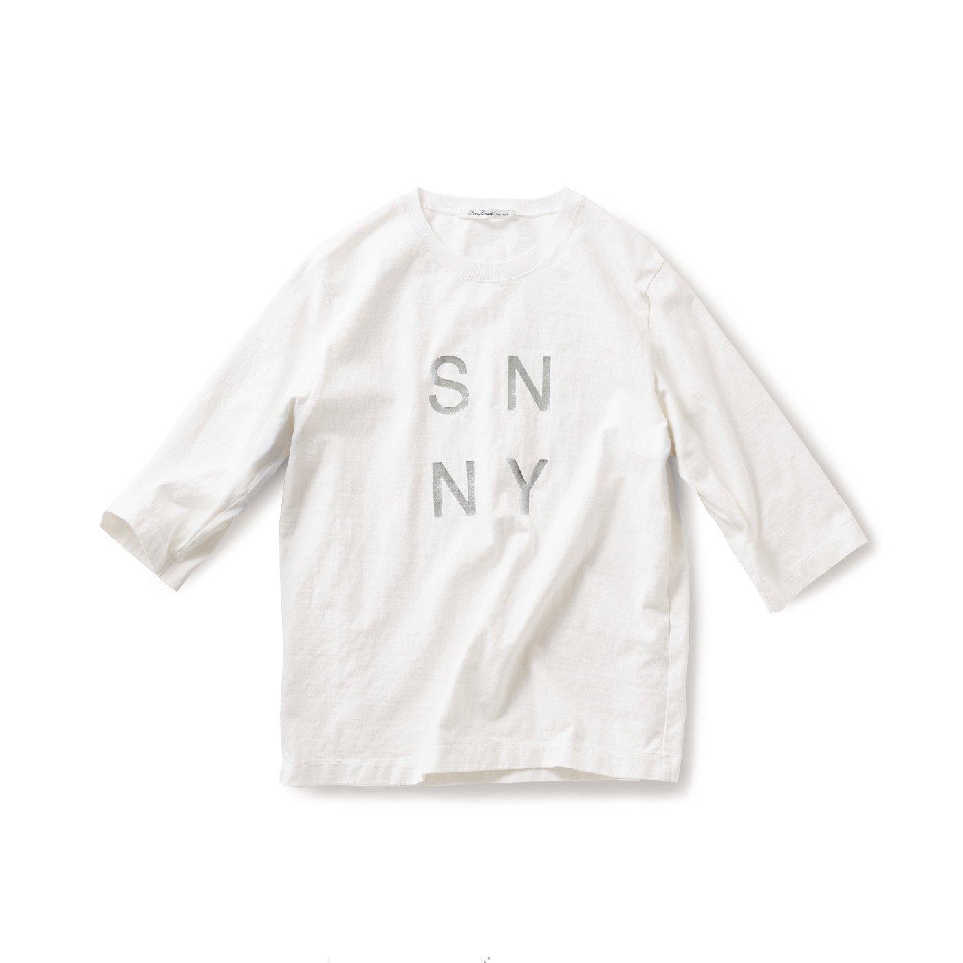 サニークラウズ 肌になじむTシャツ〈メンズ〉白