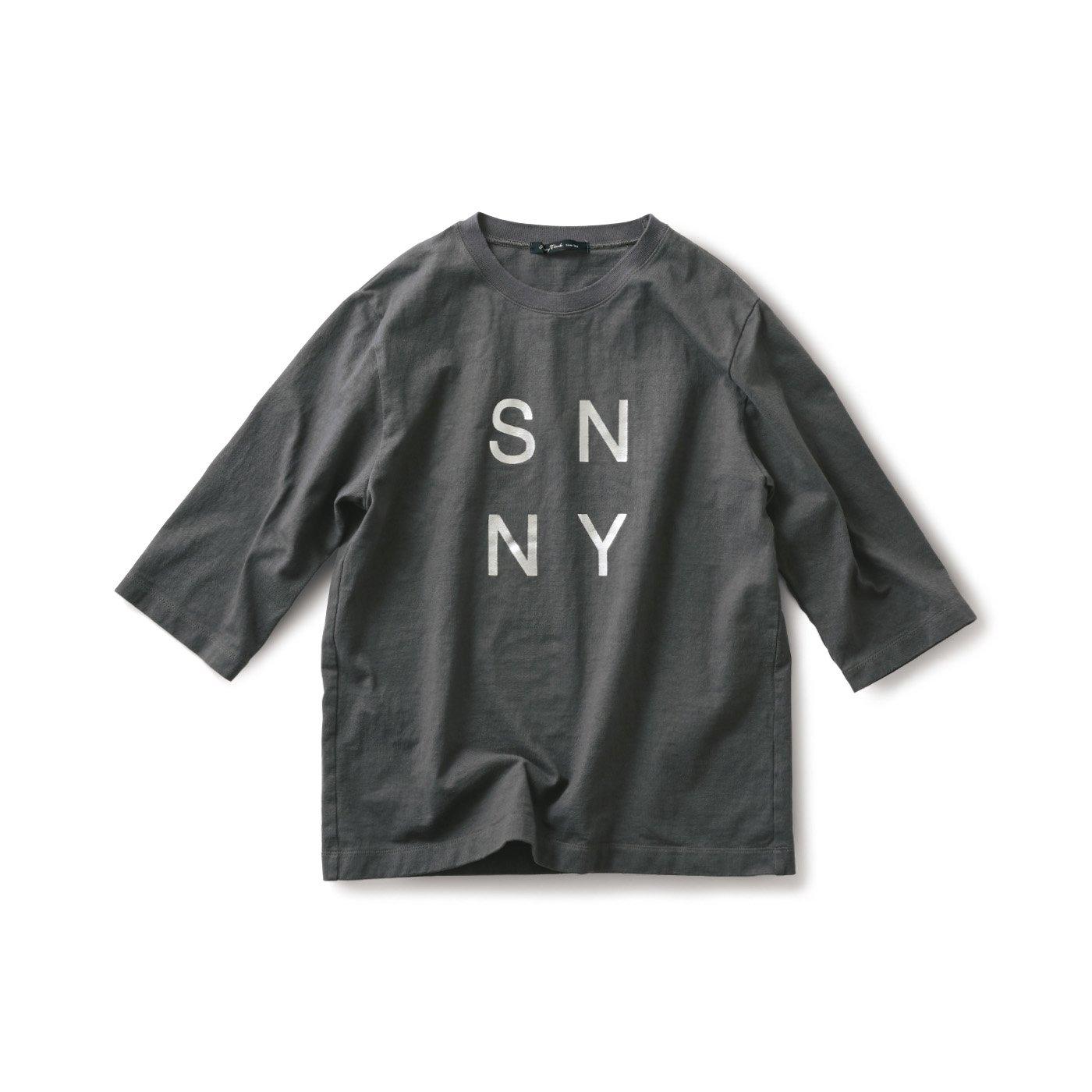 サニークラウズ 肌になじむTシャツ〈メンズ〉グレー