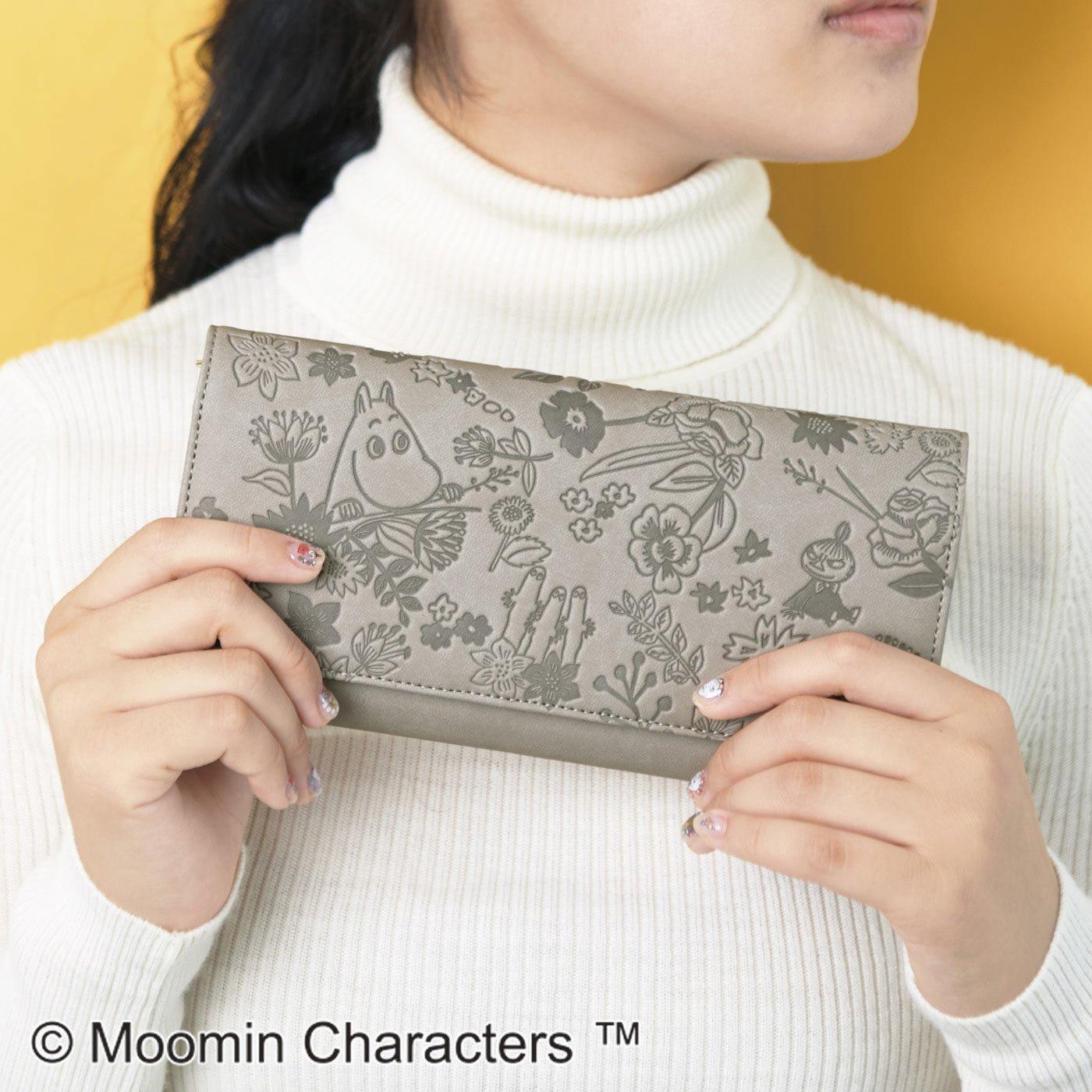 ムーミンと仲間たち 大人かわいい 型押し7つ星財布