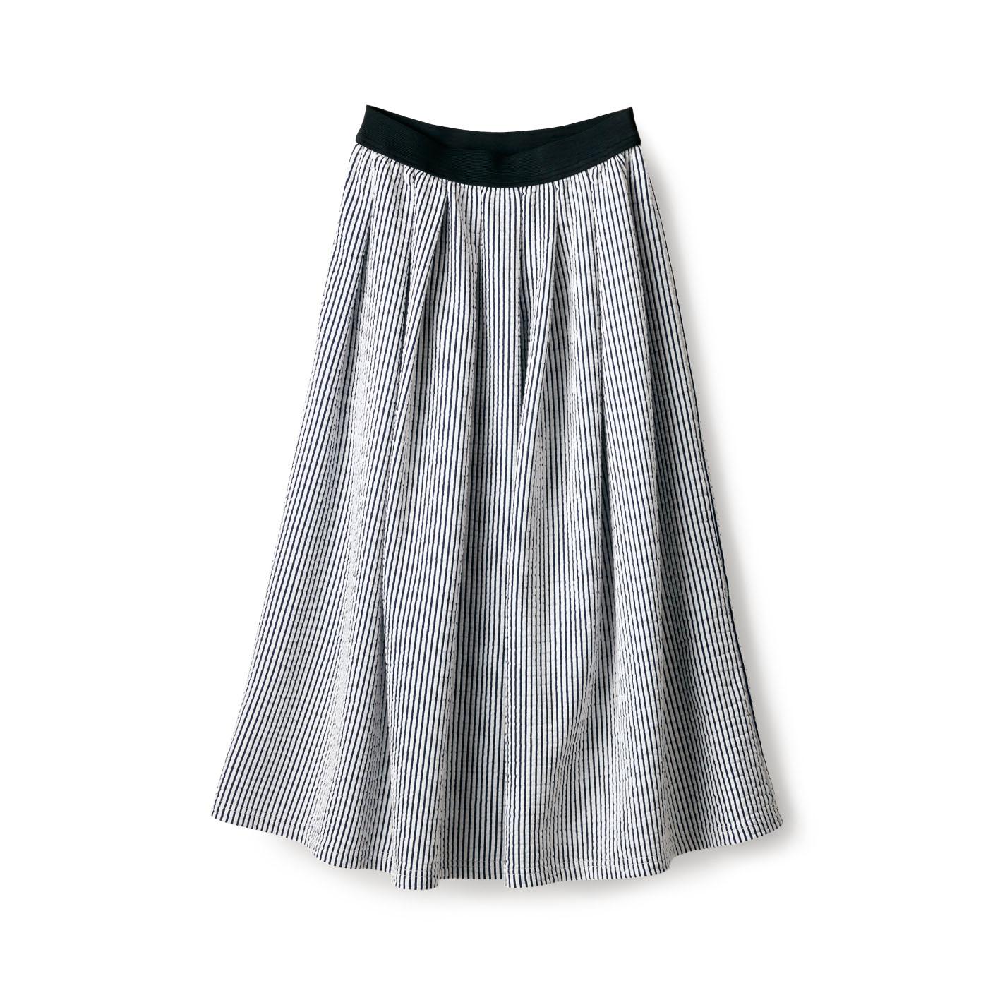 フェリシモ サニークラウズ ニットサッカー地のスカート〈レディース〉
