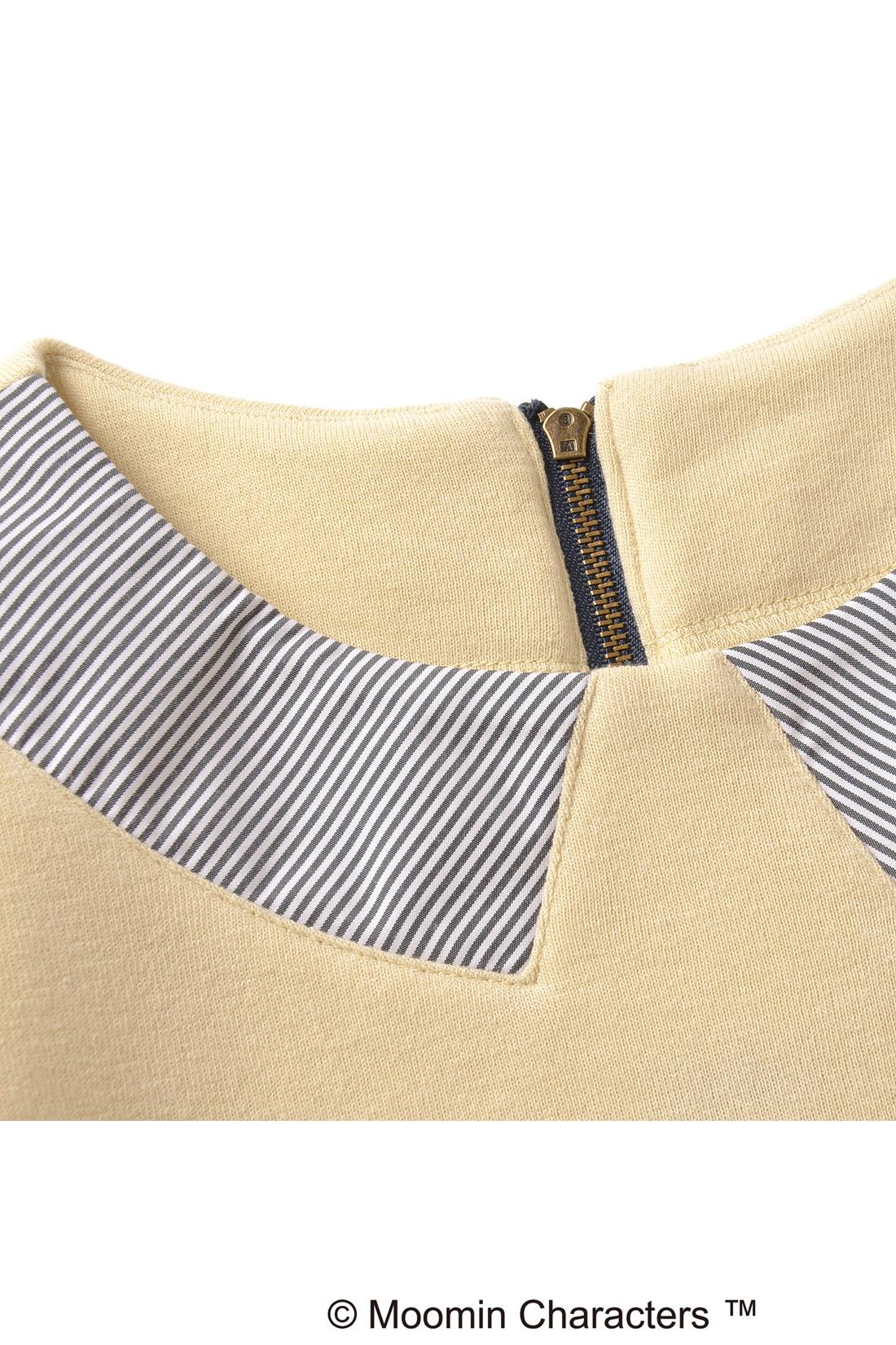 布はくの生地を衿みたいな形に縫い付けました。何だかきちんとして見えるでしょ。