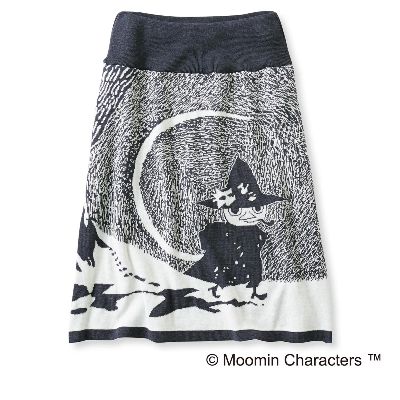 ムーミンと仲間たち 雪の日柄のインナーパンツ付き ニットスカート(スナフキン)