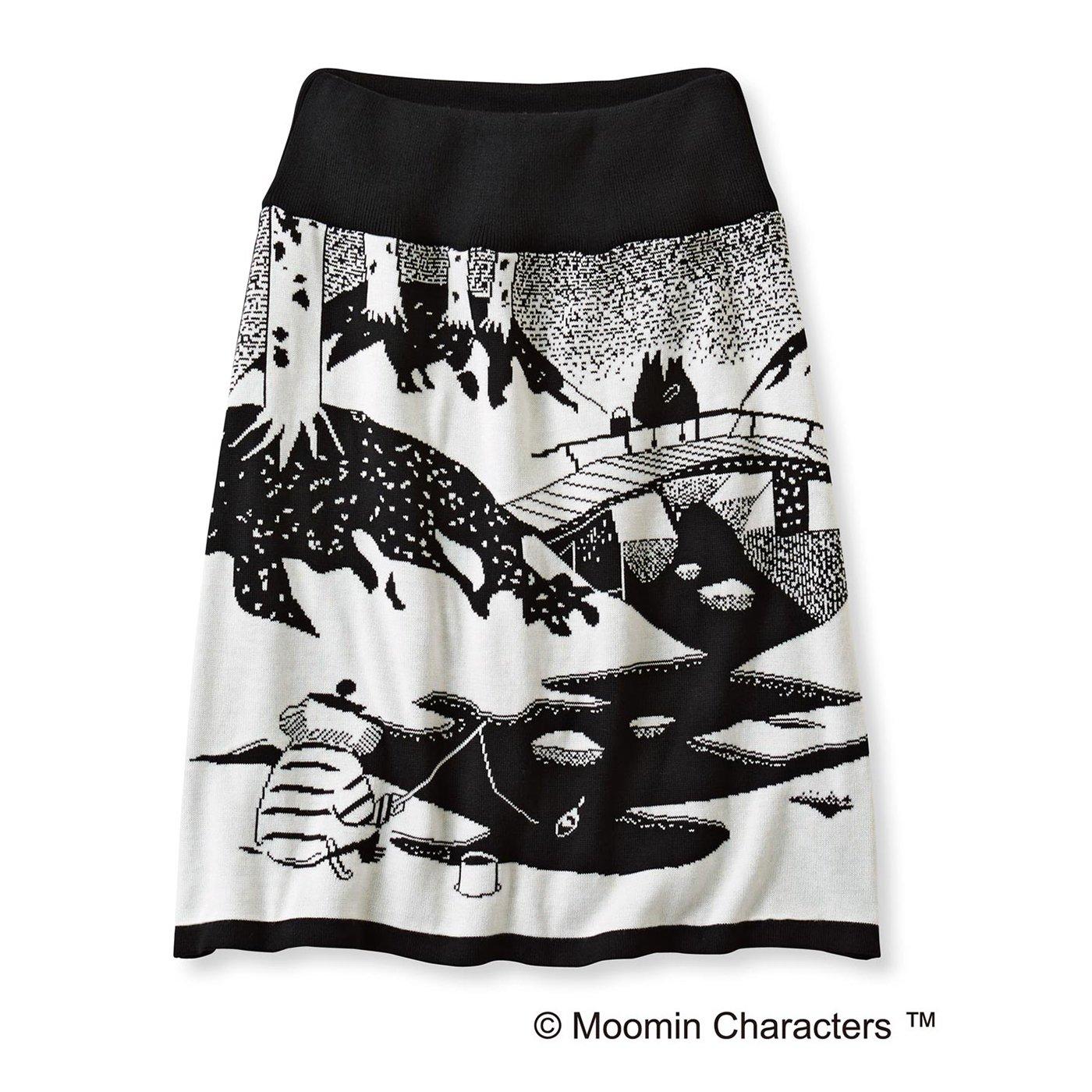 ムーミンと仲間たち 雪の日柄のインナーパンツ付き ニットスカート(おしゃまさん)