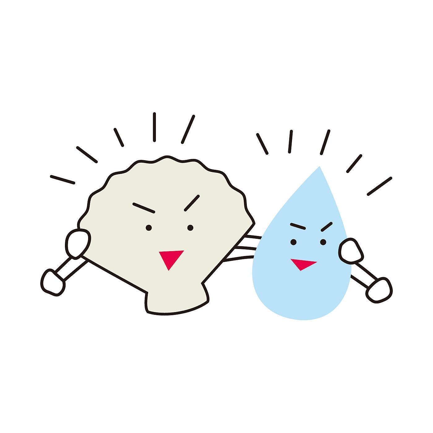 クリーナーの成分、ホタテ貝殻焼成カルシウムは水と結びついて「ホタテカルシウムイオン水」に変身!