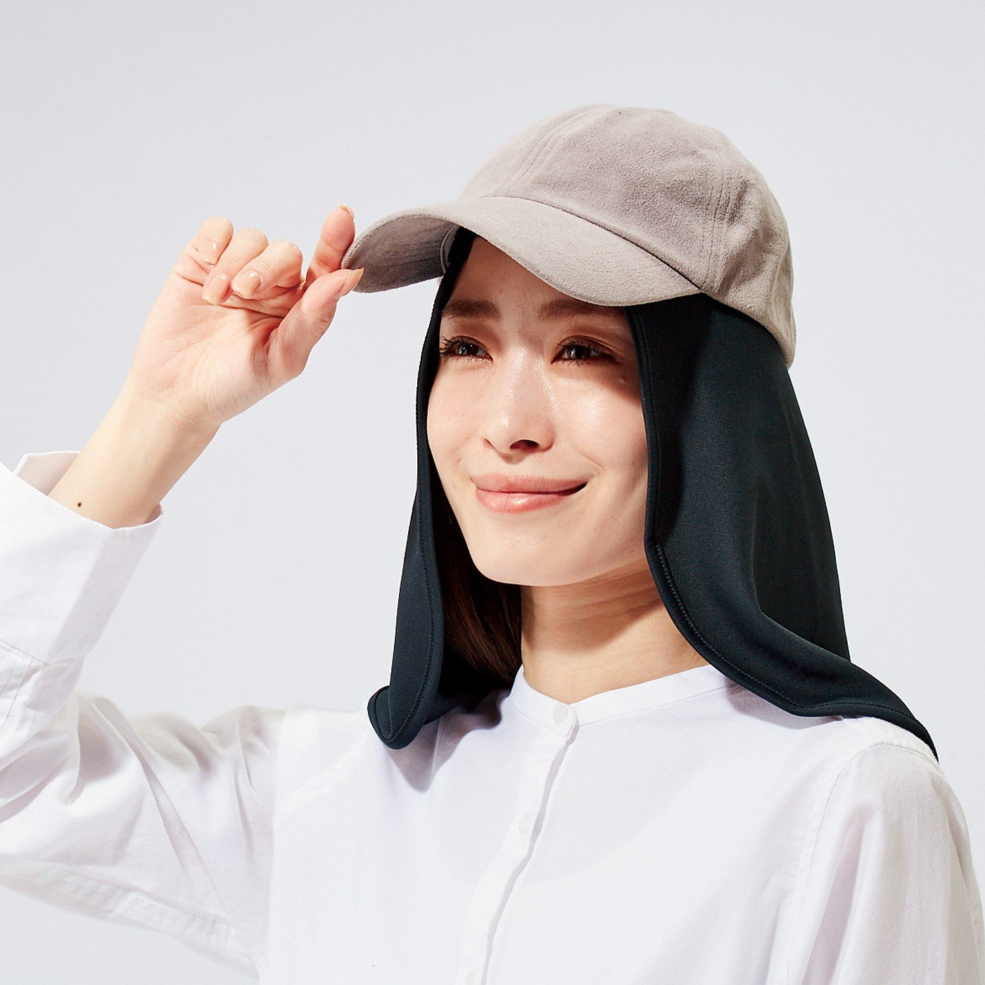 首後ろ幅広UVカット!帽子と使う日焼け対策首カバー
