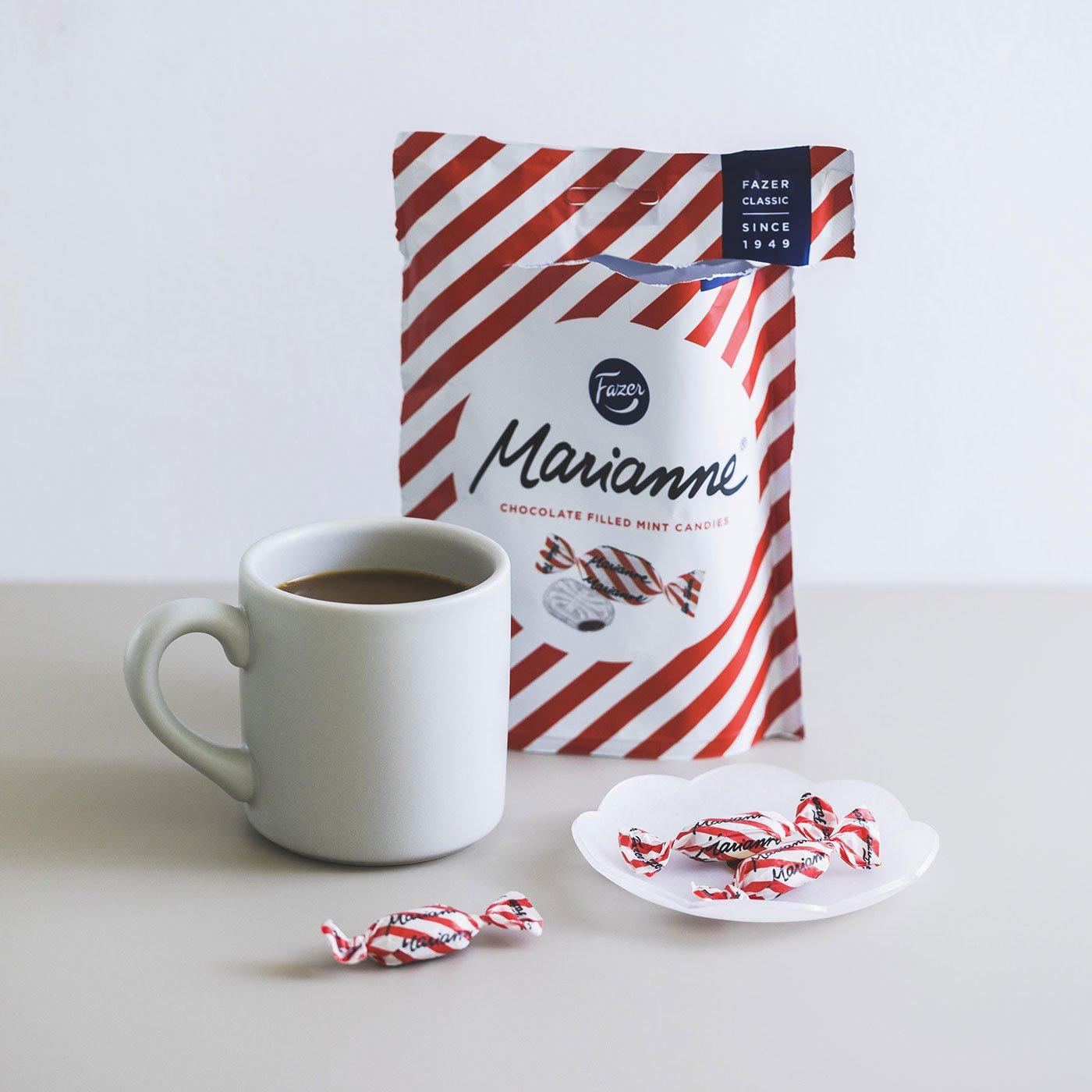 フィンランドで定番のミントとチョコのキャンディー/ファッツェル