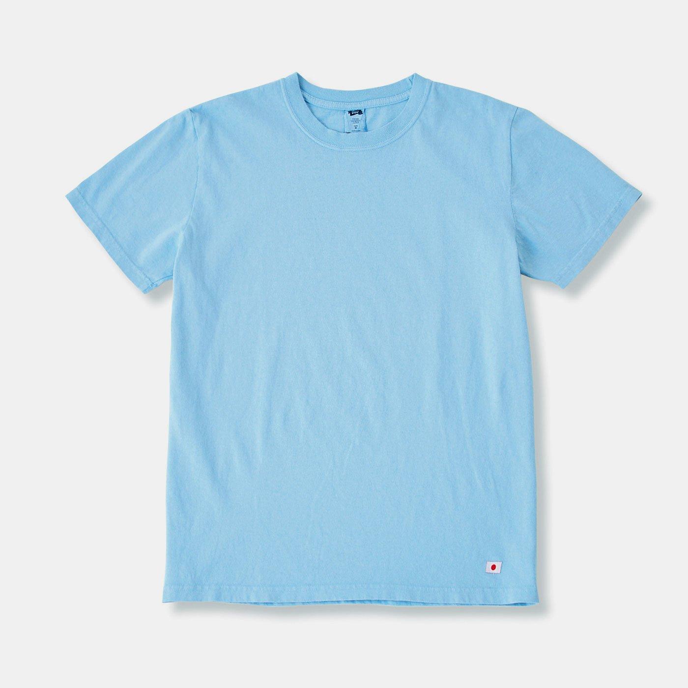 ざっくりな風合いがお気に入り 倉敷染め空紡糸(くうぼうし)コットンのワークTシャツの会