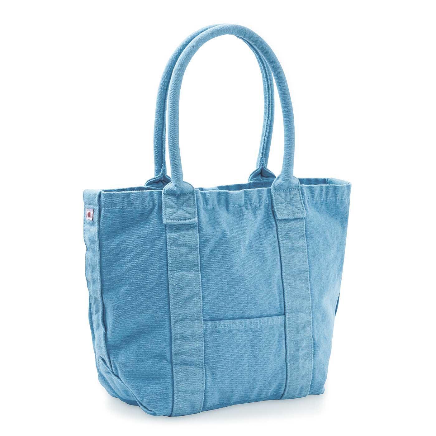 ざっくりな風合いがお気に入り 倉敷染め洗える16オンス帆布のご近所バッグの会
