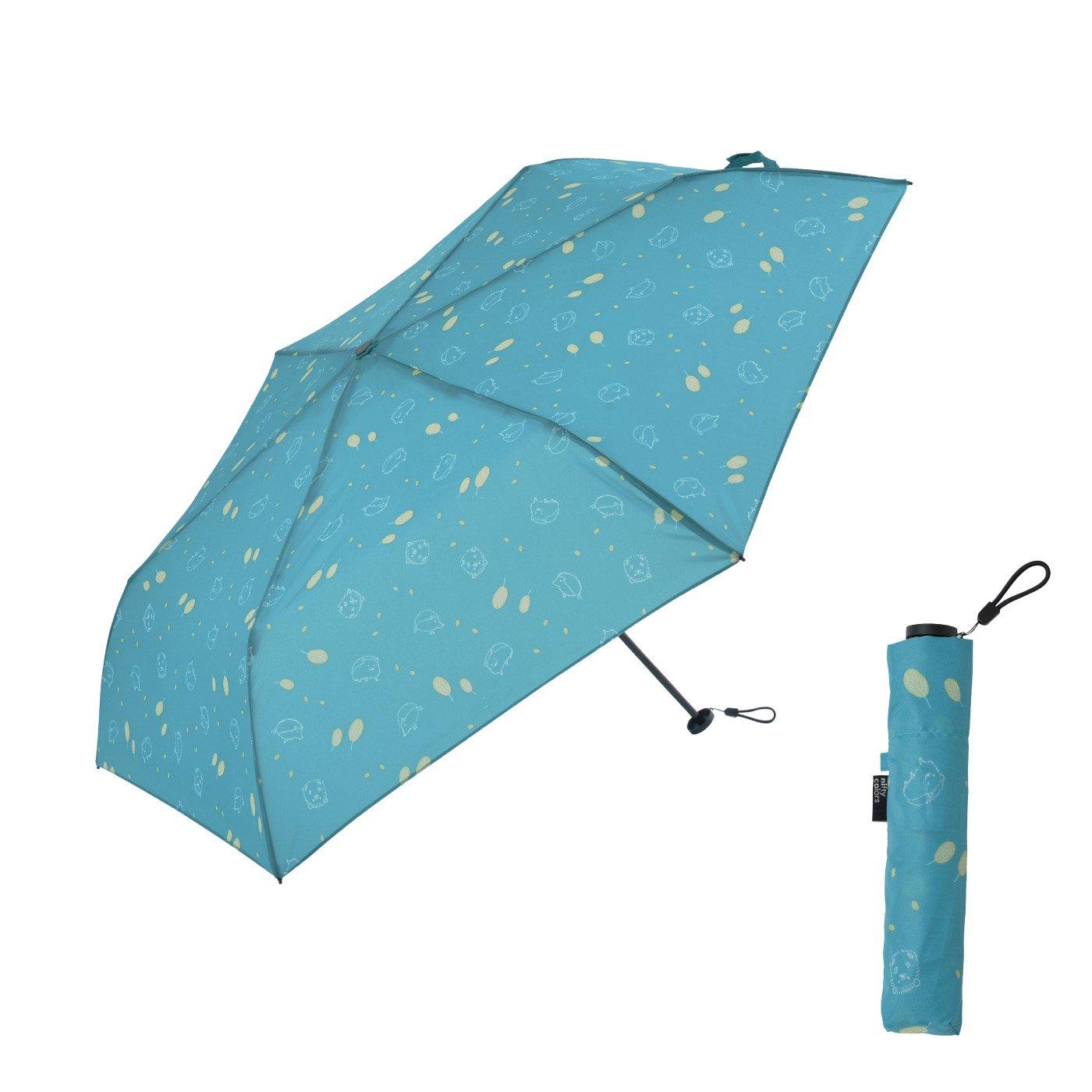 らくらく開閉!軽量&スリム  カーボンミニ晴雨兼用雨傘ハリー