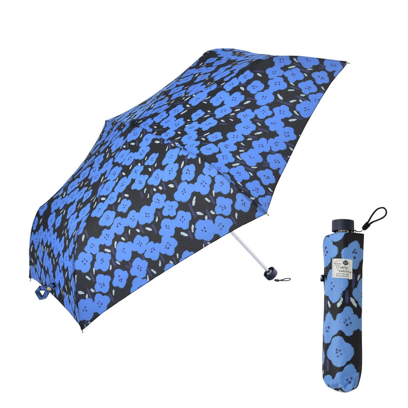 大きくひらいてコンパクト収納 荷物の多い日の折り畳み傘hana