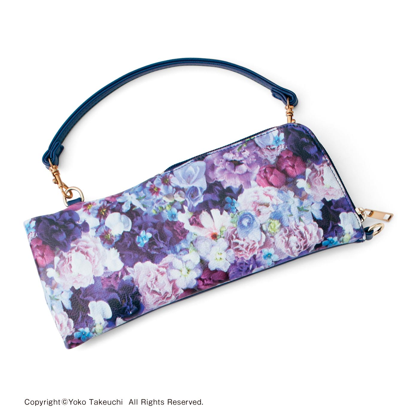 〈フリージアパープル〉 ストラップはバッグの持ち手にも付けられます。