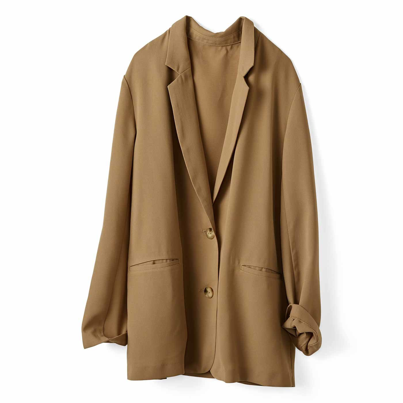 IEDIT[イディット] 接触冷感でサラリと着られる 軽やかジャケット〈ベージュ〉
